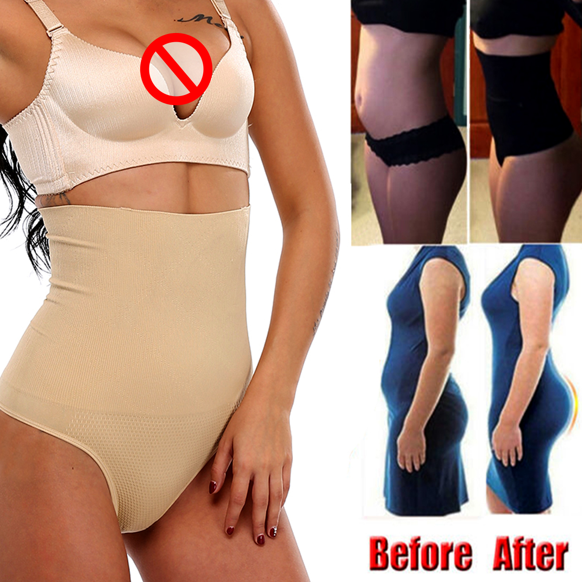 Women Body Shaper Panties Tummy Slimming Shapewear Girdle Underwear Shaping Shorts Breathable