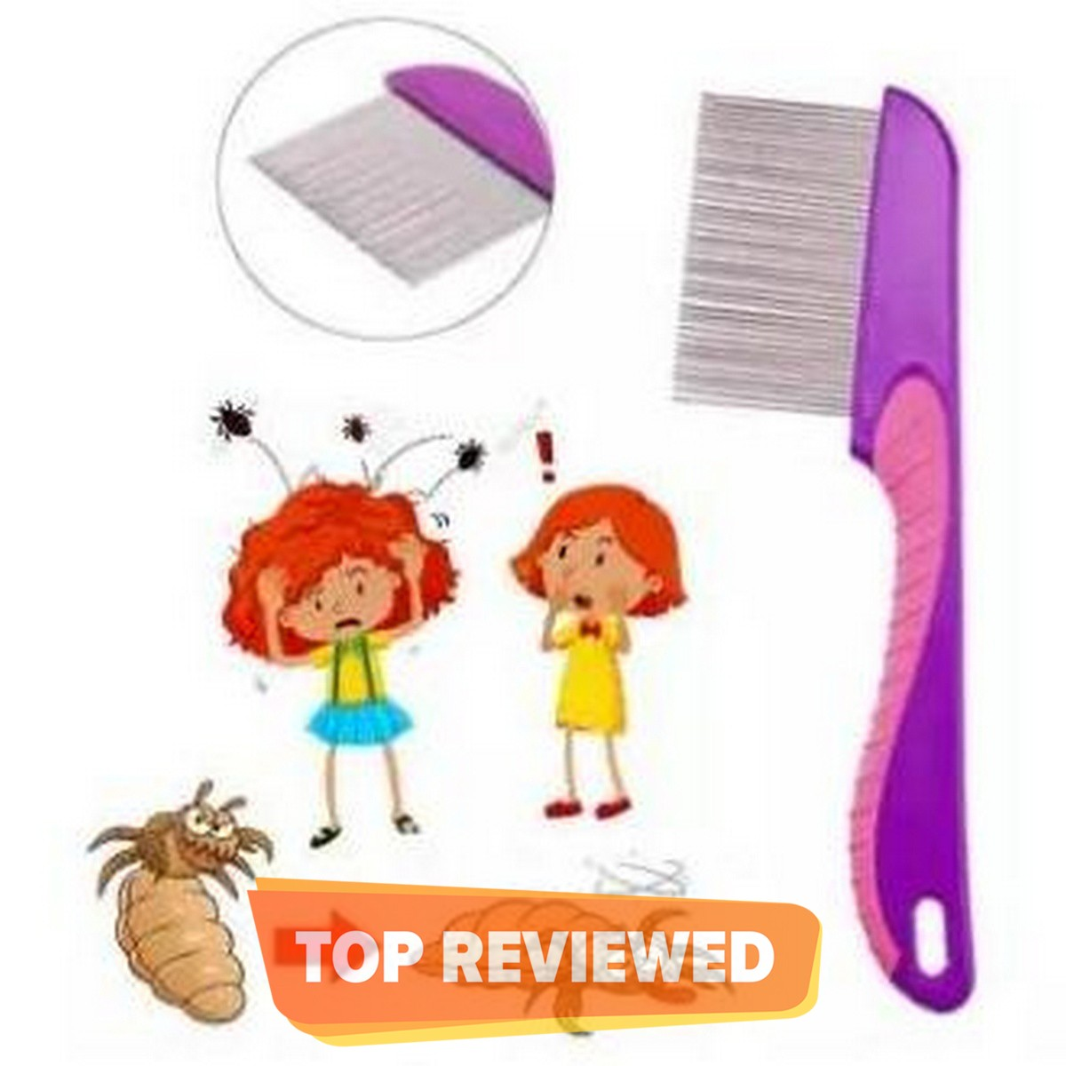 100% Stainless Steel Needles Manual Anti Lice Comb Metal Needles For Men Women Comb