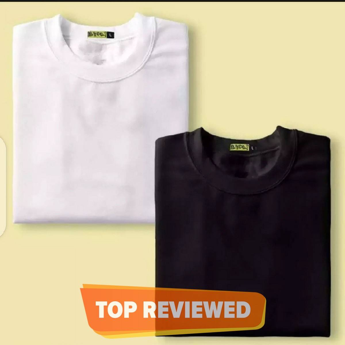 The Vintage Clothing Pack ofa 2 plain black and white half sleeves T shirt