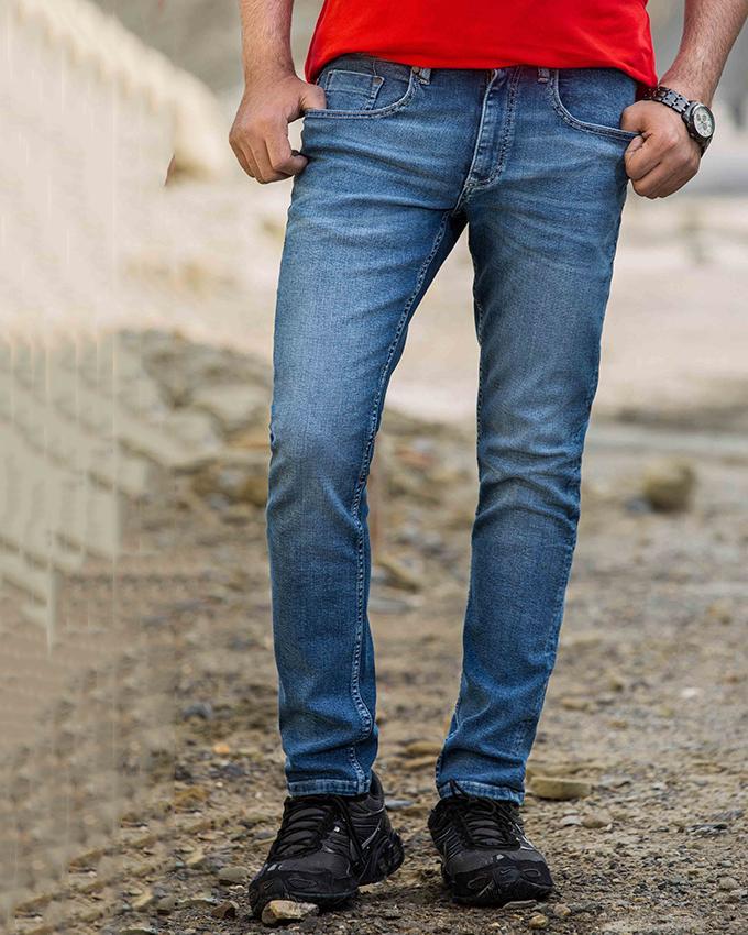 Ignite Mens Comfortable Stretch Superior Slim Fit Jeans - Dark Blue