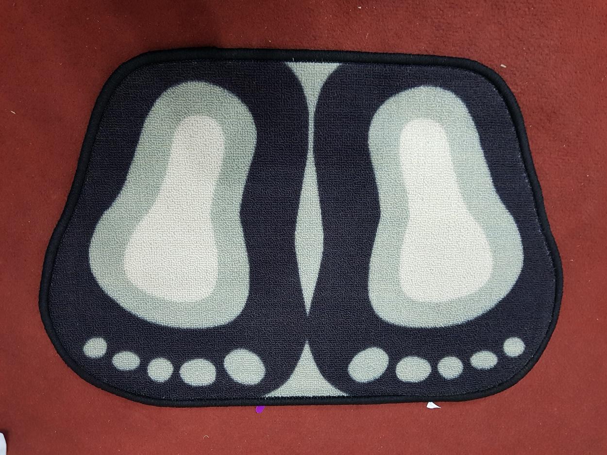 Foot Shaped Non-slip Bathroom Mat Bath Pedestal Toilet Soft Carpet Home Door Rug