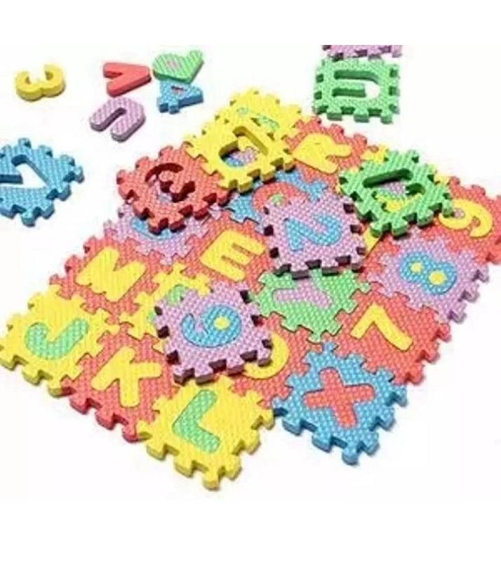 36Pcs Set 4.7Cmx4.7Cm Alphabet Letters Numbers Puzzle Kids Puzzles Toys Foam Mat Children Intelligence Development