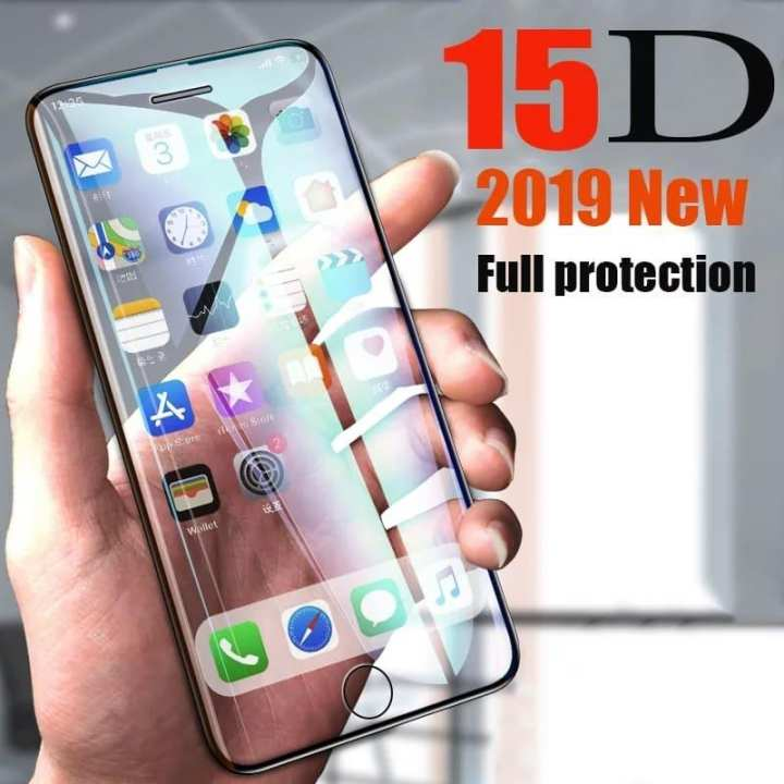 15D full cover tempered glass for iPhone 6 6S White Color