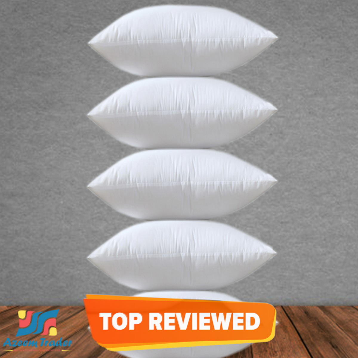Sofa Cushions Set Pack of 5 White - Filled with Imported Ball Fiber Polyester