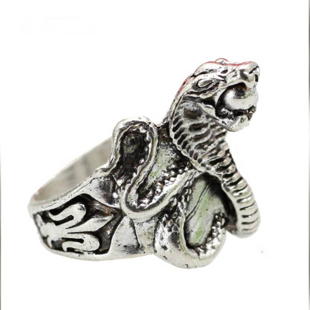 Fashion HOT Cool Men Cobra Ring Punk King Snake Ring For Men