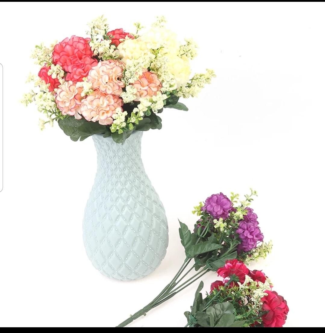 Flower Arrangement For Desk Drop Resistant Non-Glass Plastic Vase Washable Home Wedding Decor