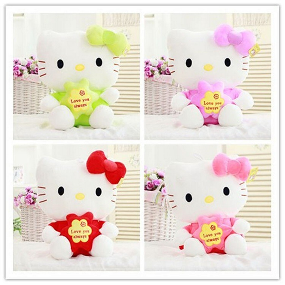 Hello Kitty Plush Toys Star Hello Kitty Doll Four Colors Small LORI Favorite Gift Party Gifts