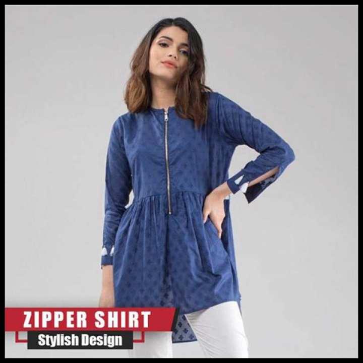 F.FASHION-ZIPPER SHIRT FOR WOMEN