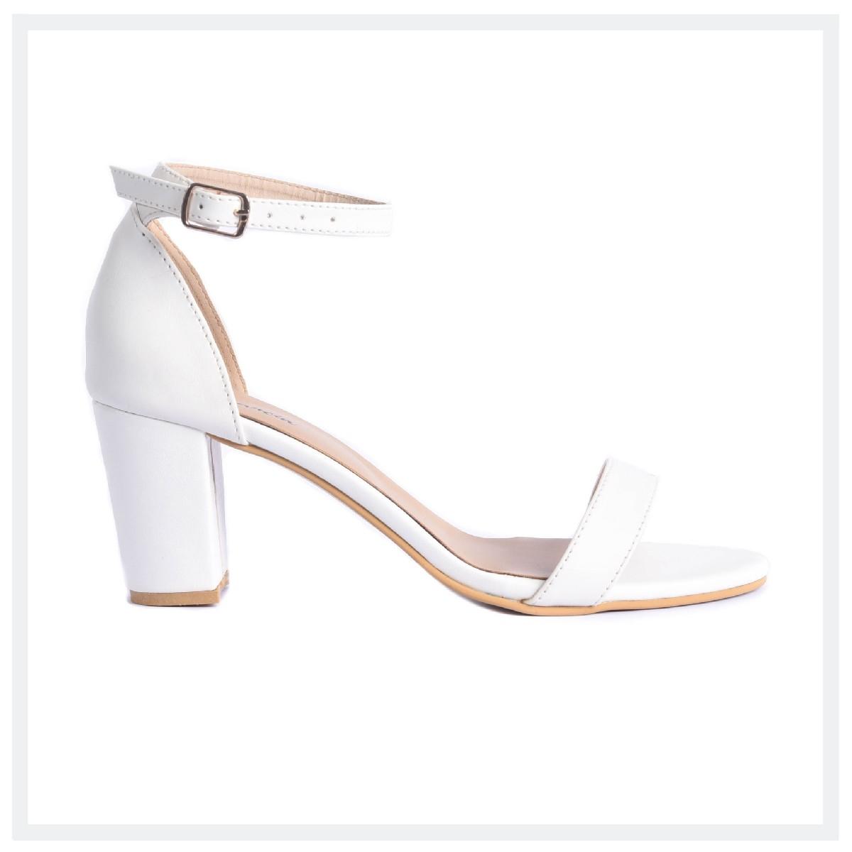 WILL  Women's High Heel Sandals  White  Elegancia