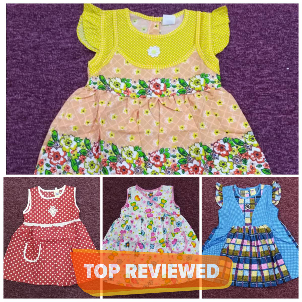 Cotton Frock Pack Of 4