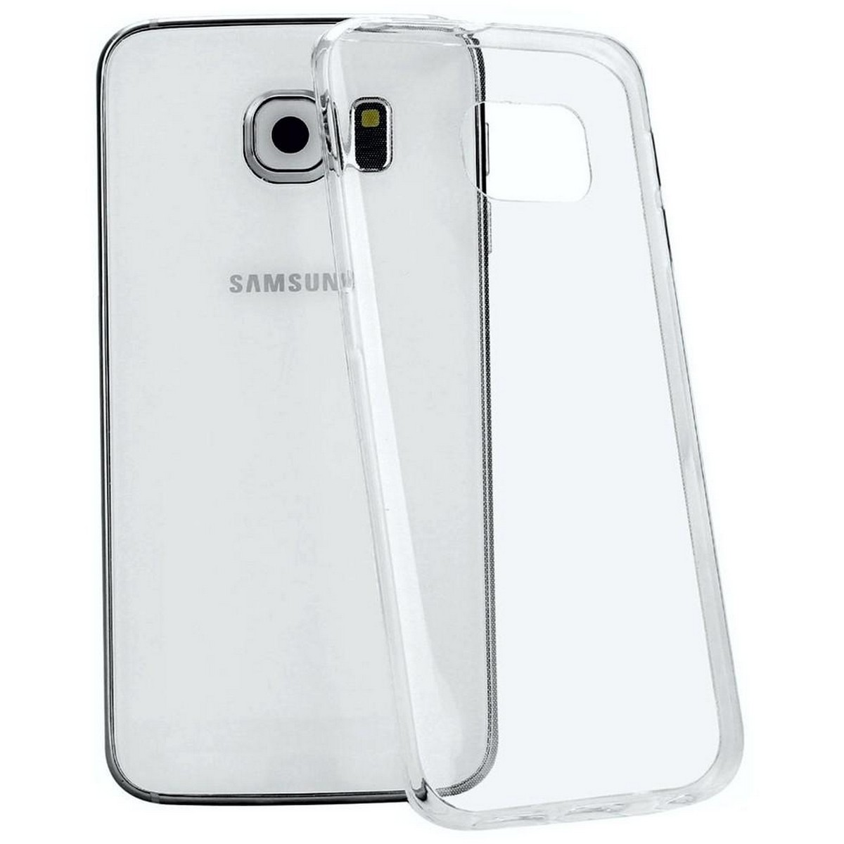Samsung Galaxy S6, Flexible Case Soft Slim Jelly Transparent Clear TPU Cover