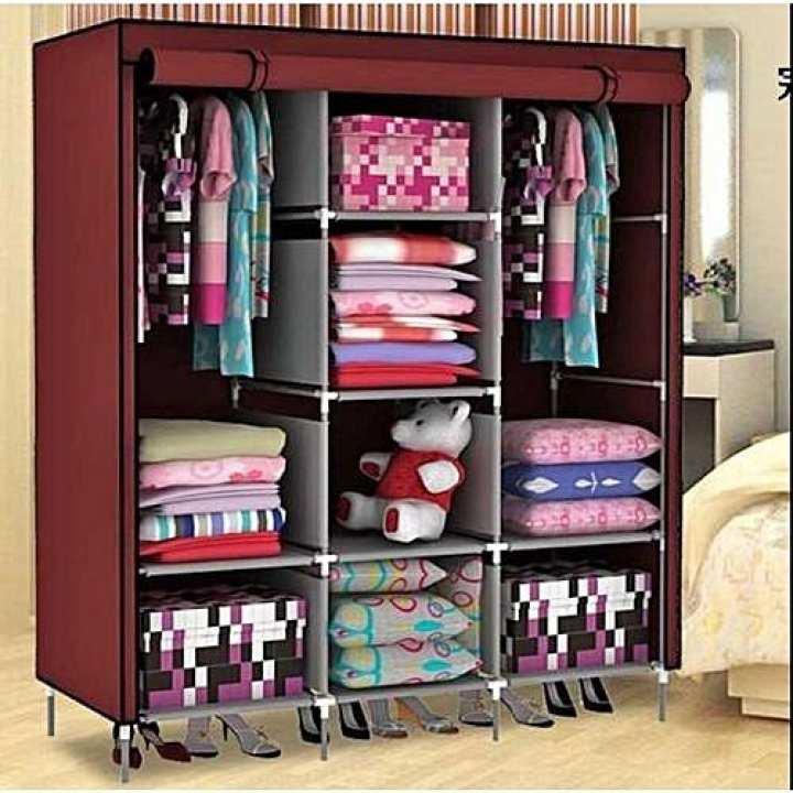88130 Fashion Cloth Storage Wardrobe (Brown)