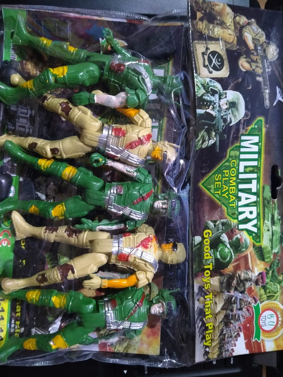 Military Army Men toys l Bendable Plastic Toy Soldiers for Kids l Simulation Soldier Model (Height 4.5 Inches Approx)