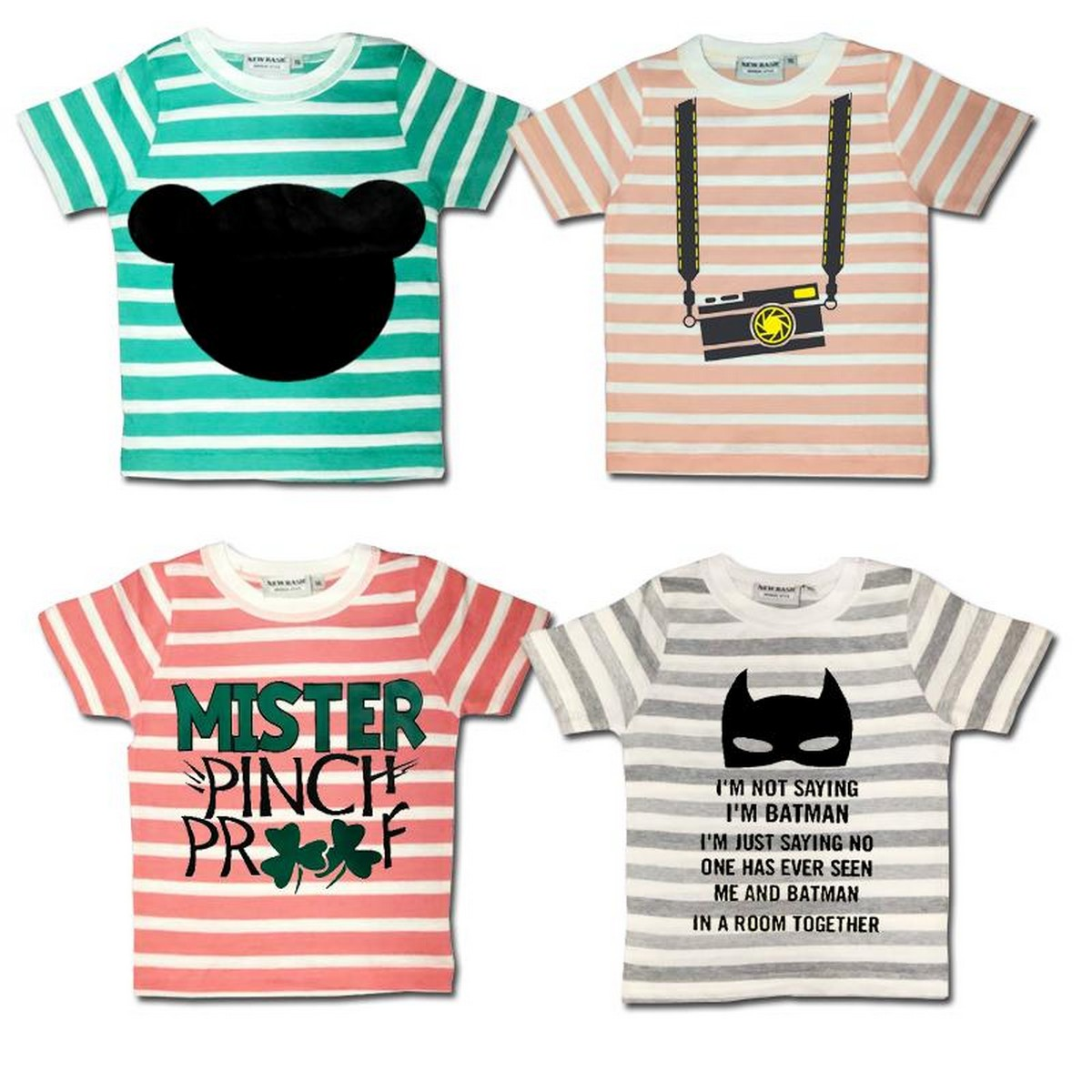 Pack Of 2 Printed Multicolor Export Quality Tshirts For Kids