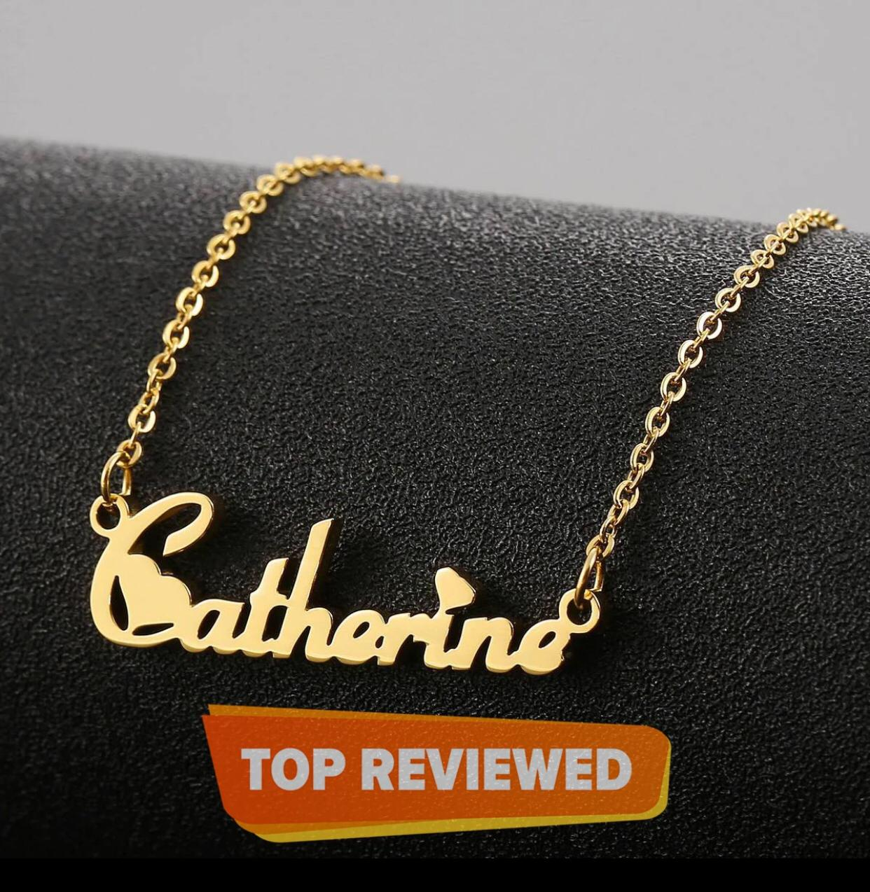 Customized Jewelry Fiolex Girls Single Name Necklace