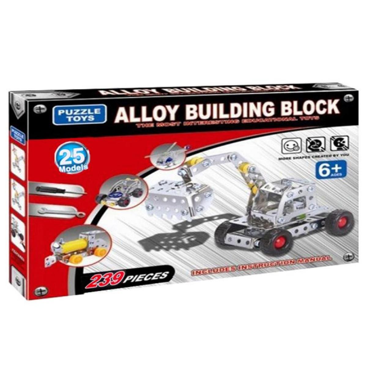 Metal Mechanics Building Tool Vehicles Set - Makes upto 25 Models