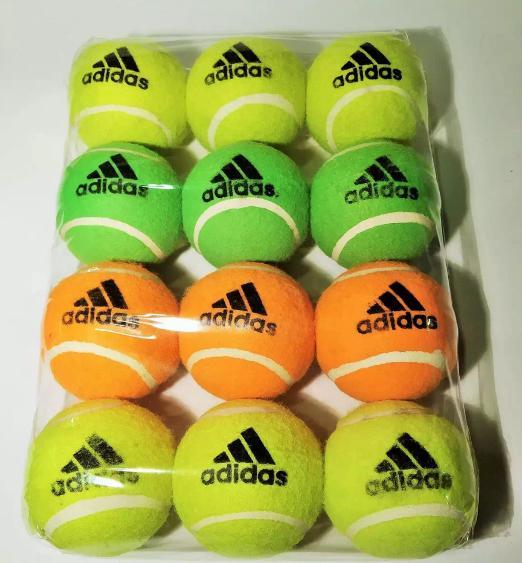 Balls Tennis Balls Cricket Balls 12 Pieces Multi color.