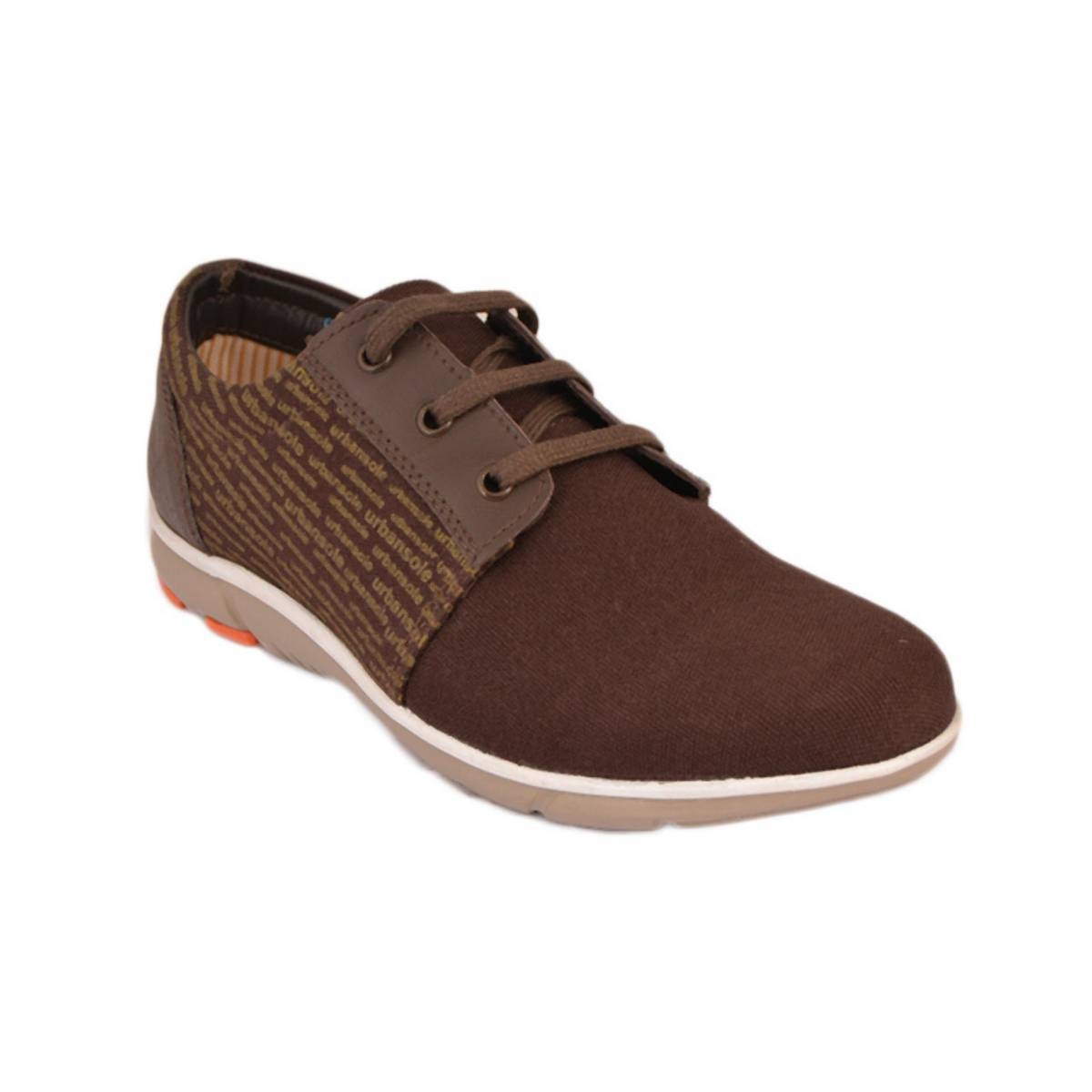Urban Sole D. Brown Canvas Shoes  Winter Collection - CV-8101