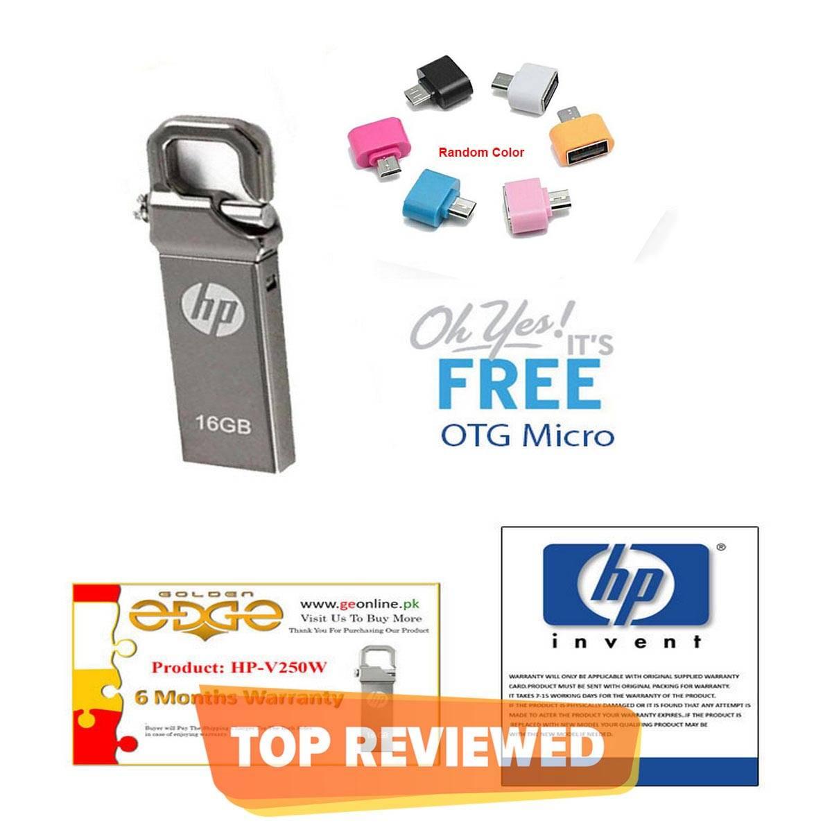 With 6 Month Warranty Card HP USB Drive Metal -16GB 32GB 64GB + OTG Adapter