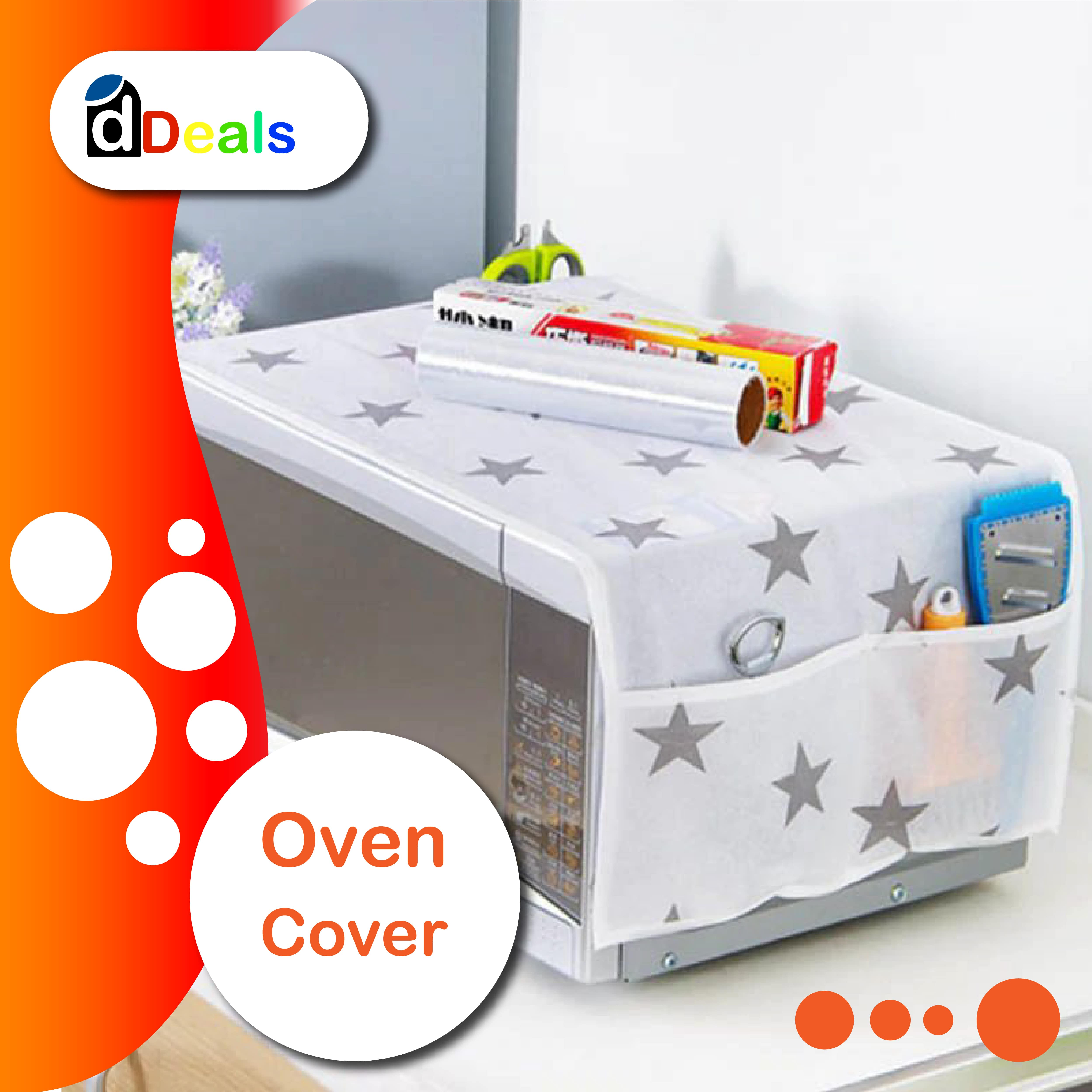 Fridge and Oven Cover Cute Print Dust Covers microwave cover Oven Covers Refrigerator cover organizer microwave cover oven fridge Cover With Pocket