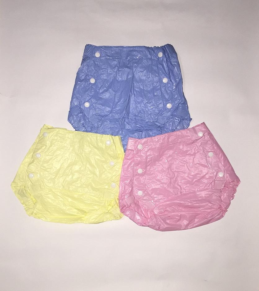 Plastic 0-3 Years Old Baby Reusable Adjustable Washable Button Plastic Diapers