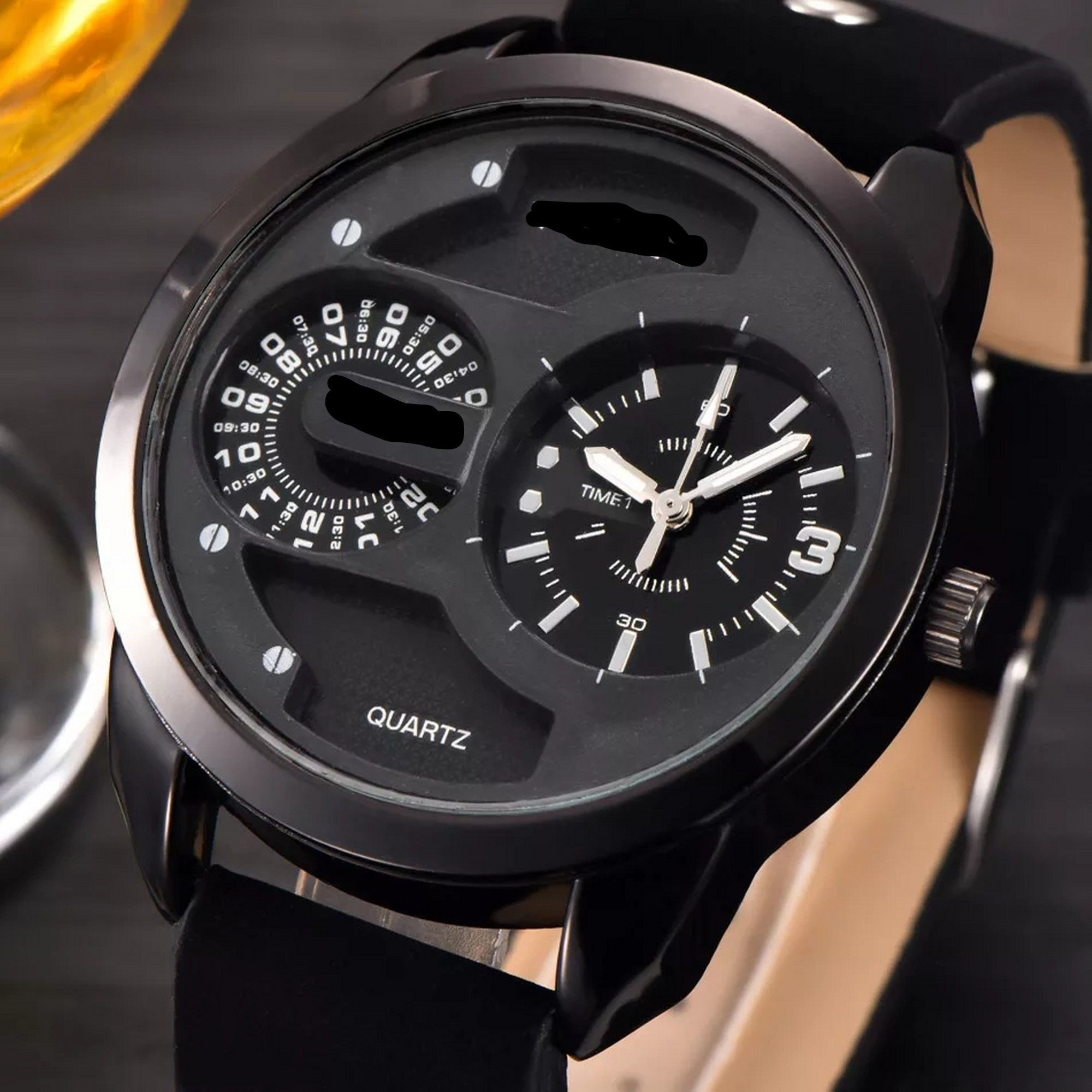Black and Brown stylish Rubber/Silicon Strap Watch for boys & Girls with Box -unisex- Watches for men