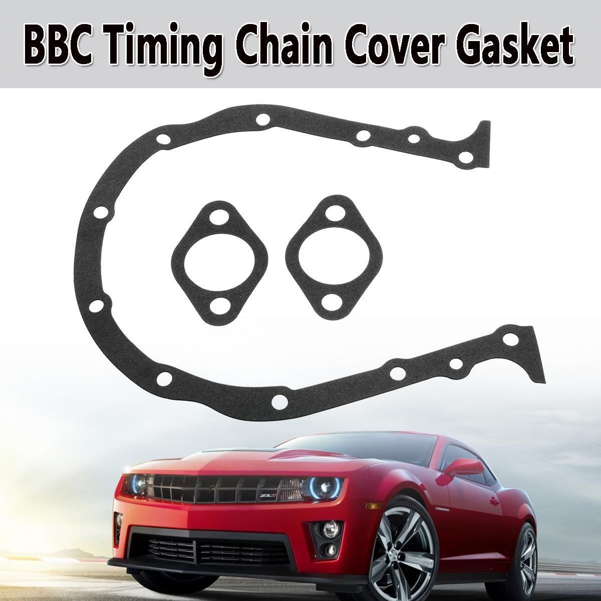 Black Front BBC Timing Chain Cover Gasket For BB Chevy 396 402 427 454 472  502