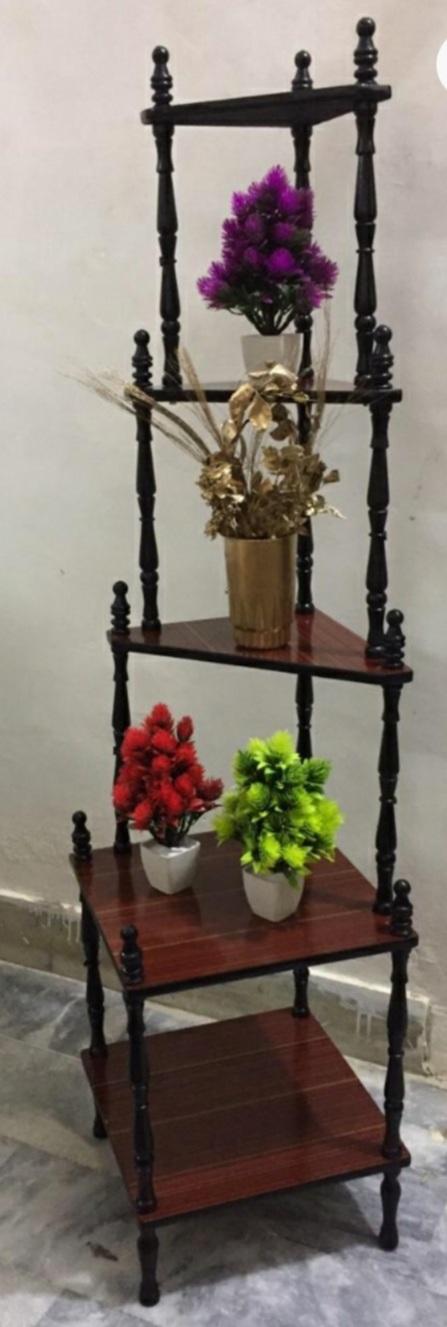 Wood Corner Shelf stand / Wooden Corner rack