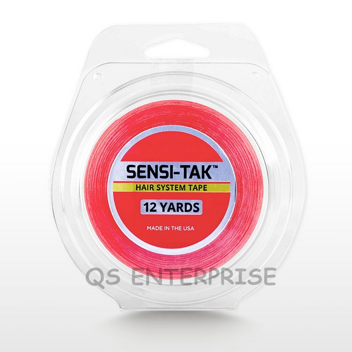 Red Tape Sensi-Tak Wig / Unit Double Sided Tape Roll Strong adhesive-12 Yard Roll (US WALKERS TAPE)