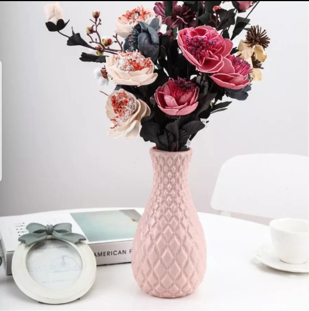 Flower Arrangement For Desk Drop Resistant Non-Glass Plastic Vase Home Wedding Decor