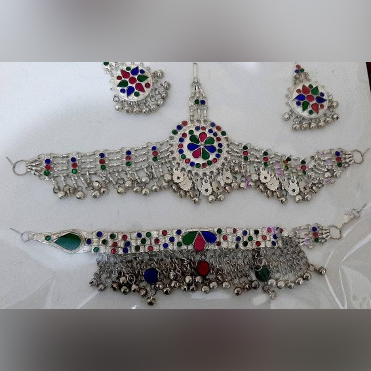 Special Offer Beautiful jewelry Matha Patti, Necklace and Earrings Set for Girls