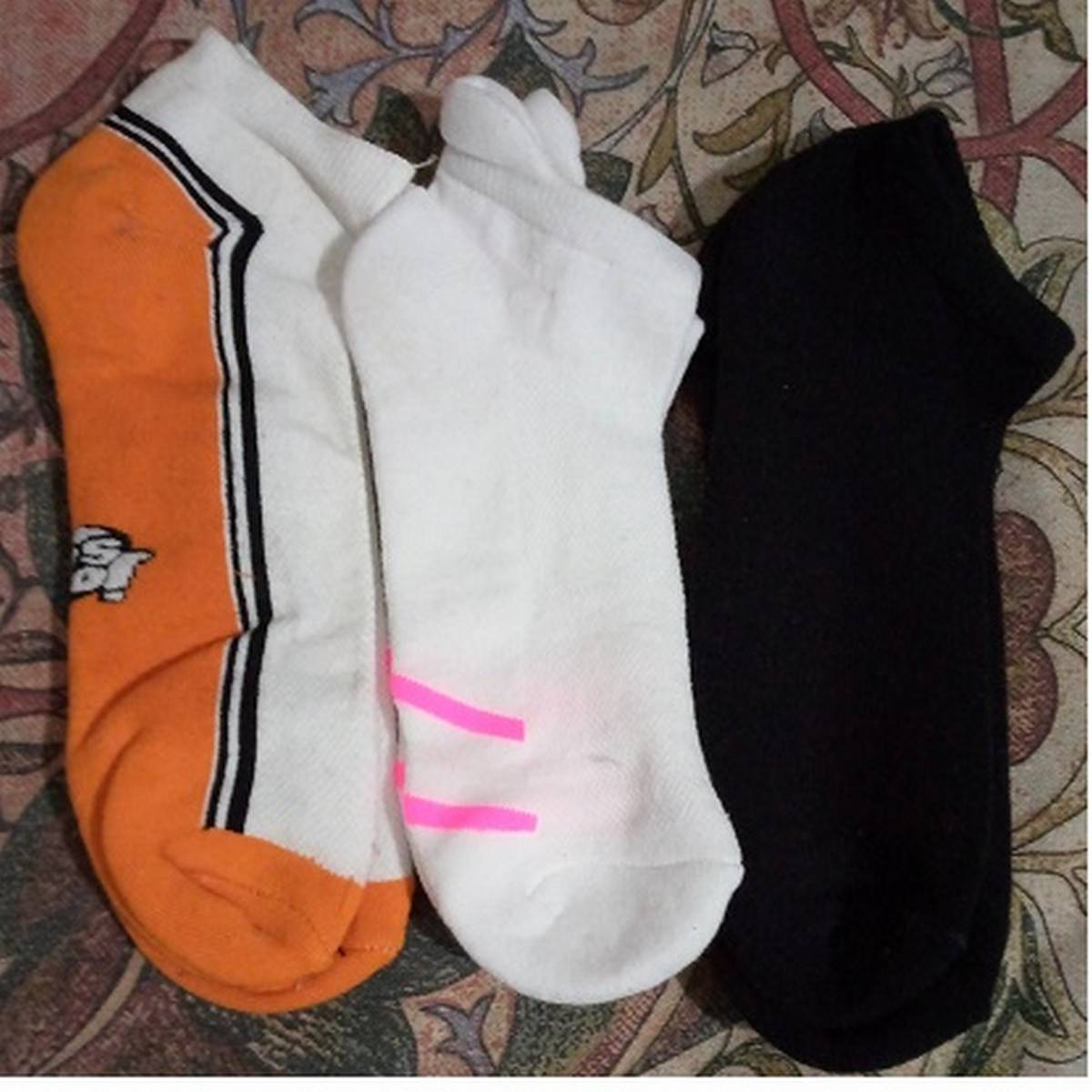 3 Pairs Sports Cotton Ladies Candy Color Socks Low-cut Boat Ankle Short