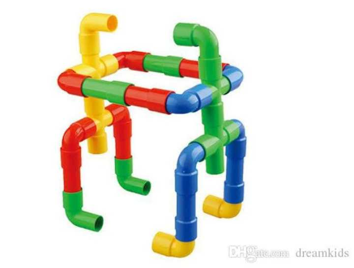 Pipe Block for Kids Children - 7 Colors - With a Storage Bag