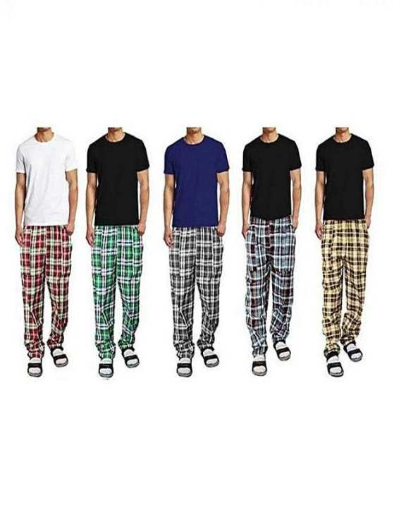 Pack Of 5 Night Cotton Trousers - Multicolour