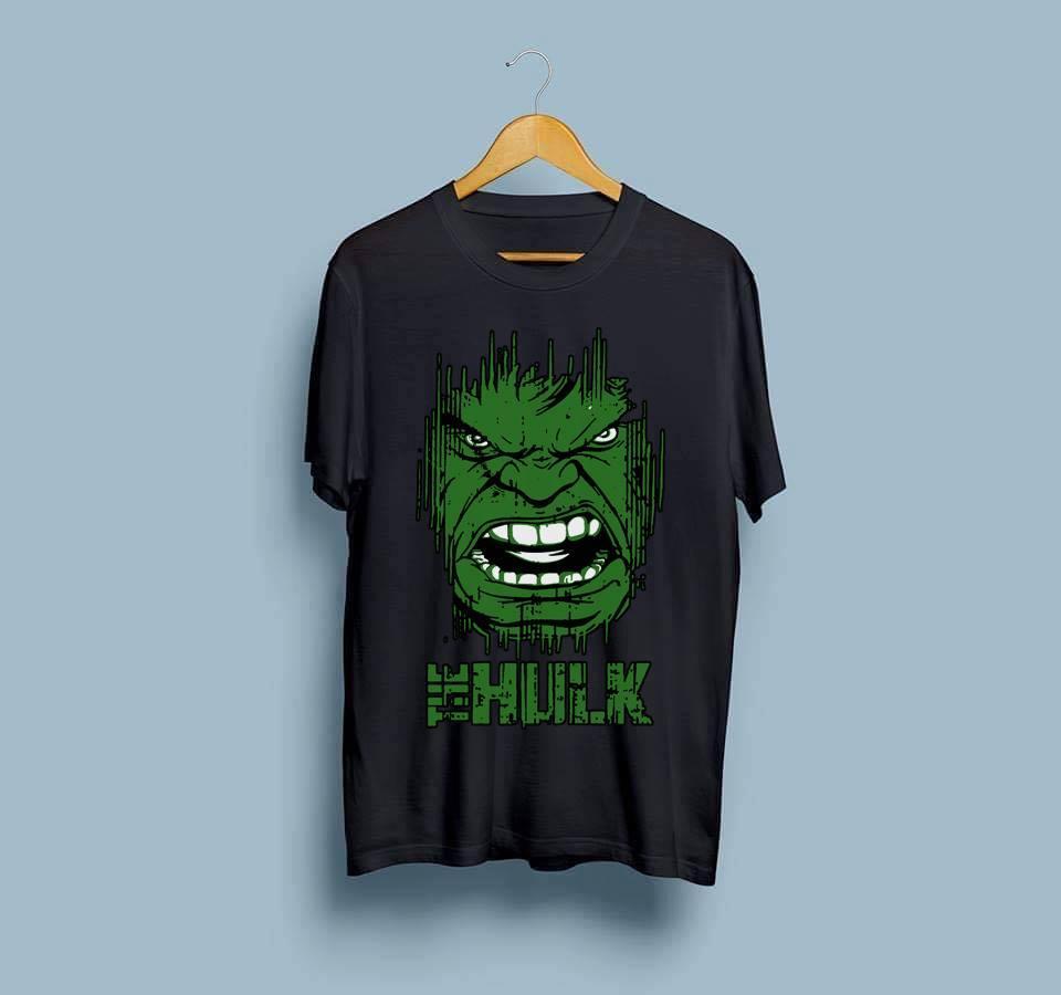 Hulk Amazing Smart Fit T Shirt Men O-Neck Half Sleeves Tee Shirt Round Neck Cotton TShirt Casual Tshirt TShirt Summer Wear Spring Wear Tops