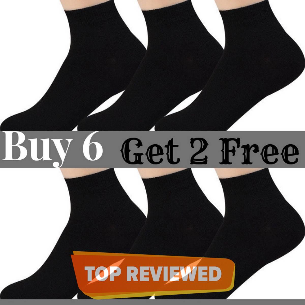 Buy 6 Pairs Get 2 Free - Low Cut Socks for Men and Women