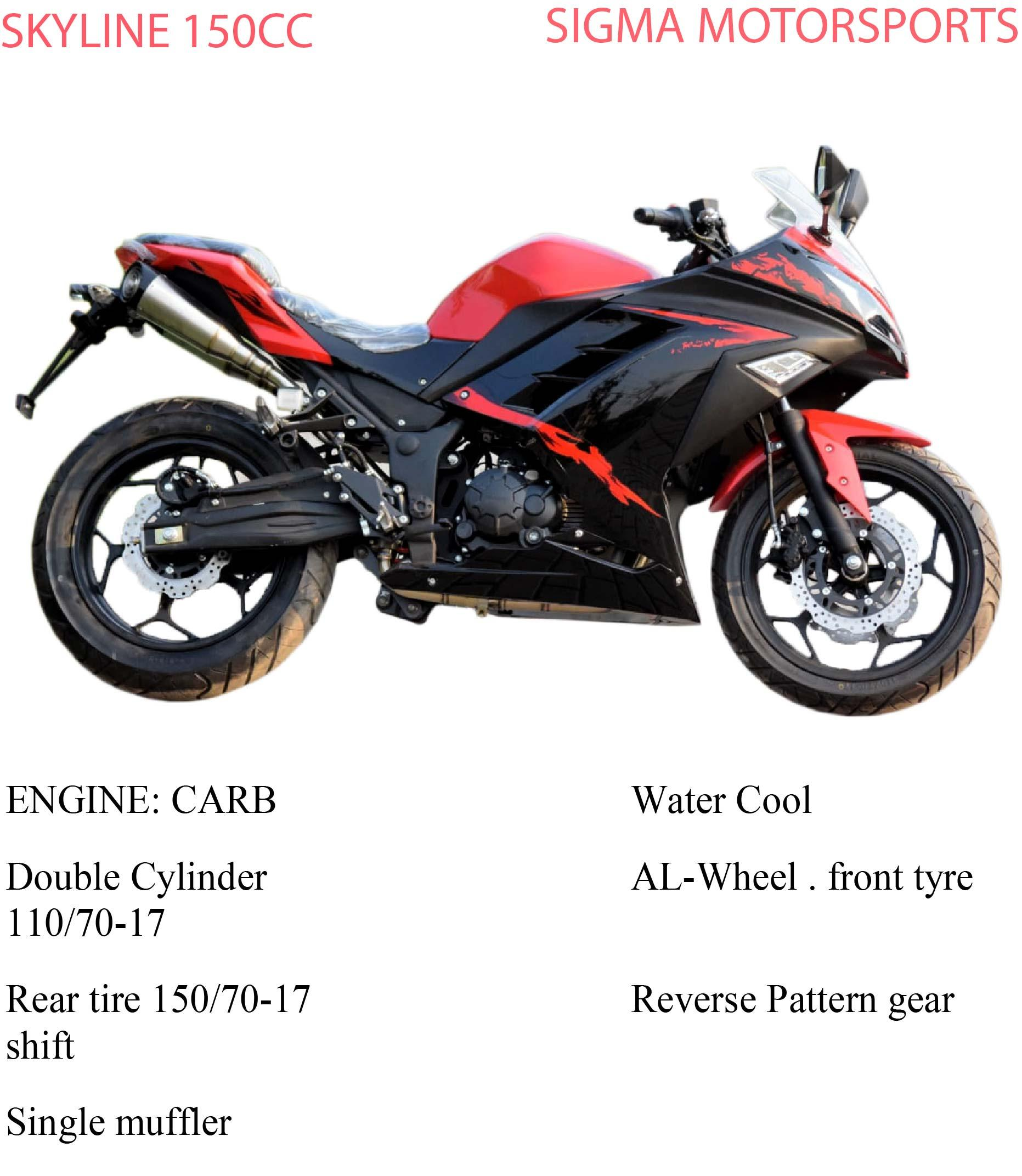 SYKLINE 150CC SPORTS HEAVY BIKE (RED)