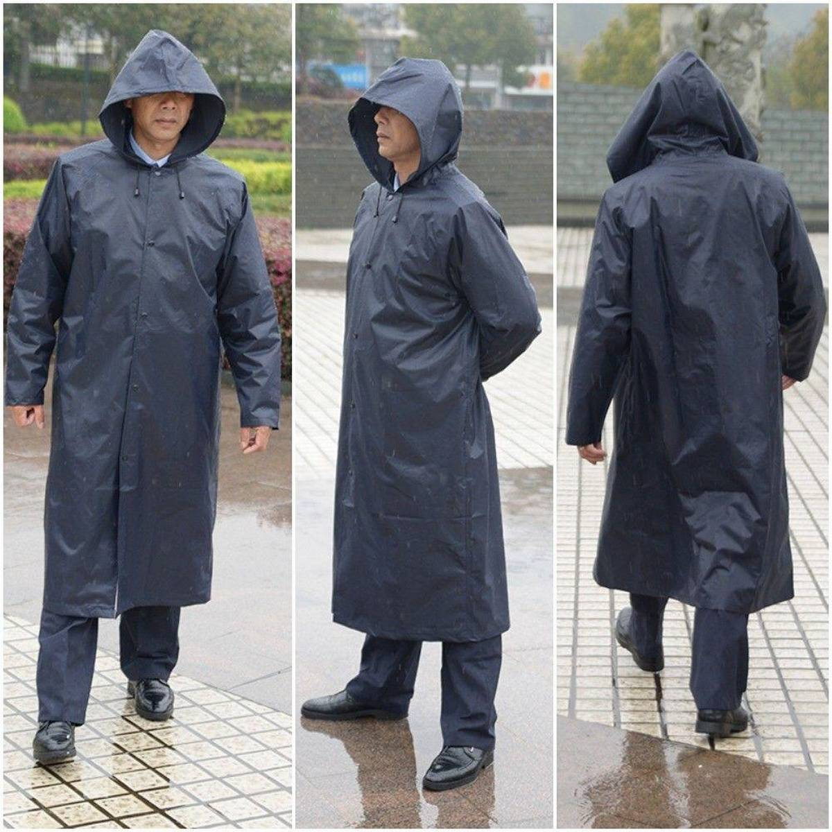 Raincoat Reusable, Adult Raincoat with Hoods and Sleeves, Thicken Clear Ponchos for Men Women Teens,