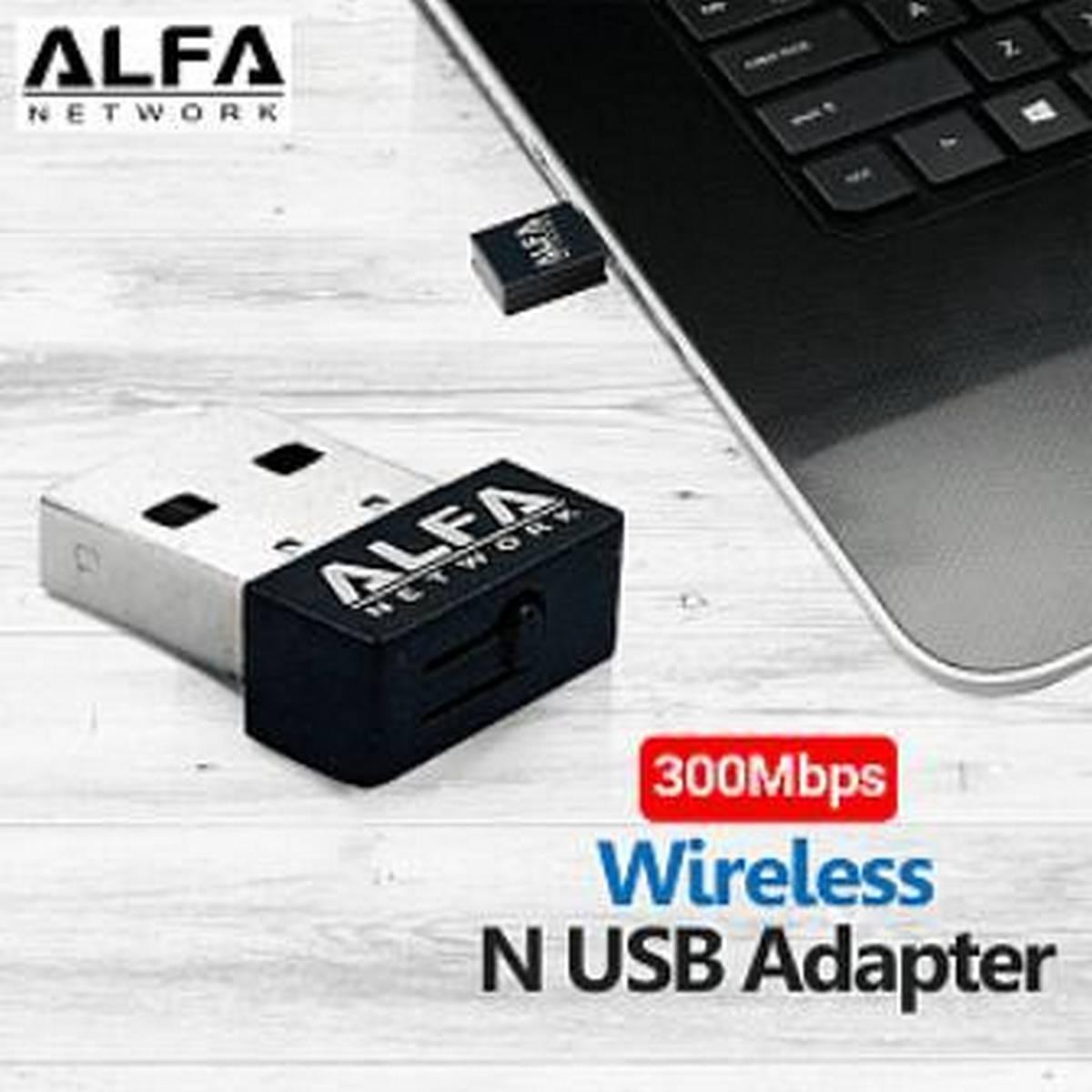 Alfa Wifi Usb Adapter Mini 300 Mbps - Usb Wifi bluetooth - Wifi Bluetooth - Stronger Signal Gain Devices - Signals Transmission Device