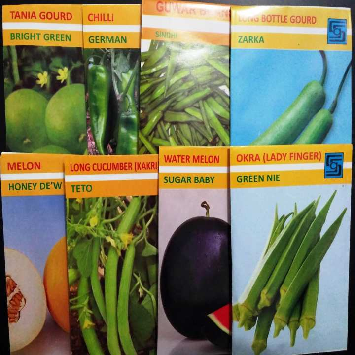 Summer Vegetables Seeds- 8 types of premium quality seeds
