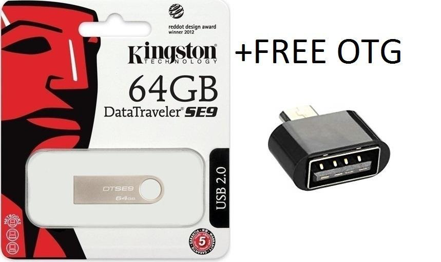 64GB SE9 + (FREE OTG) , USB Data Traveler (Metal)