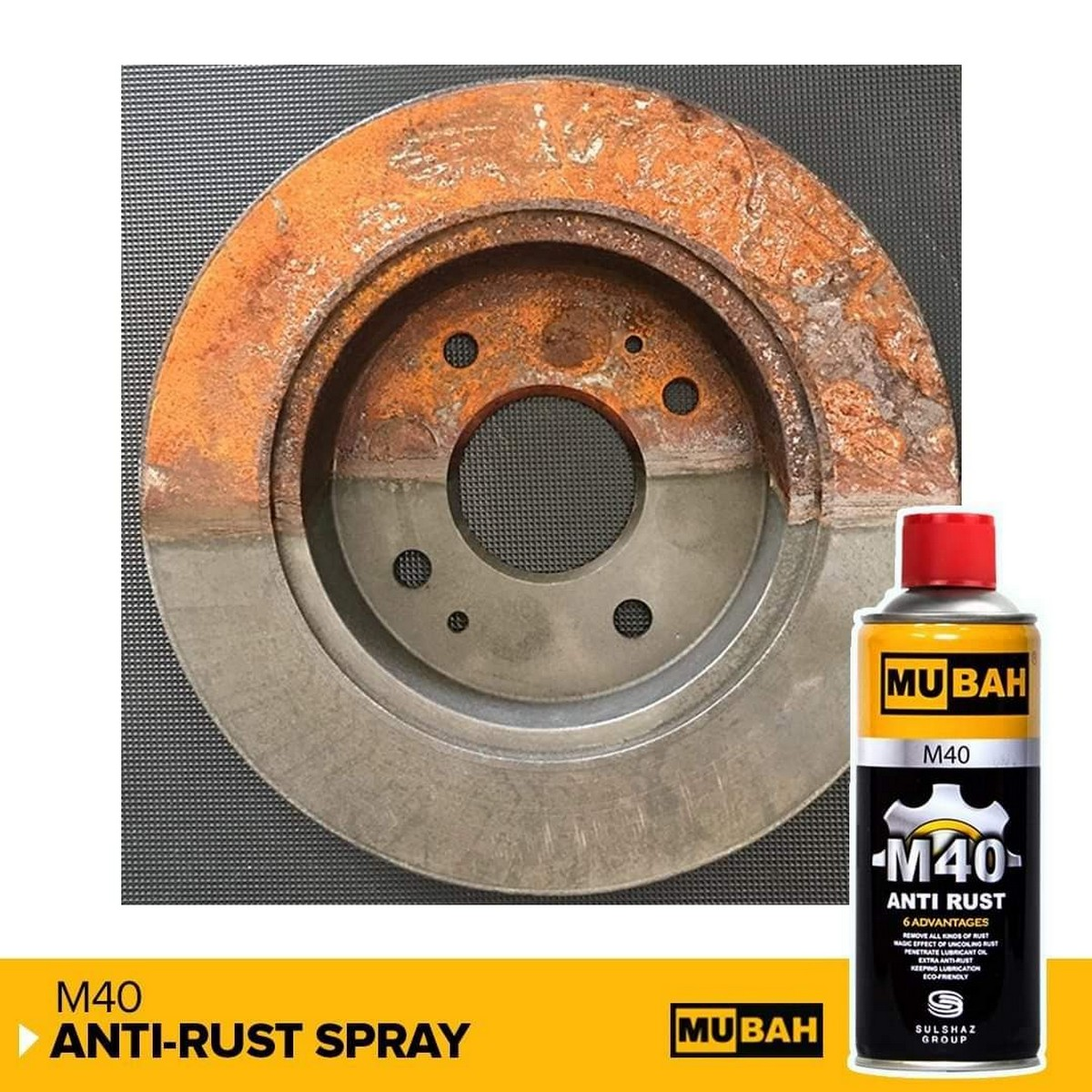 M- 40 WD 40  Rust Remover by MUBAH 100% accurate 400 ml original m 40