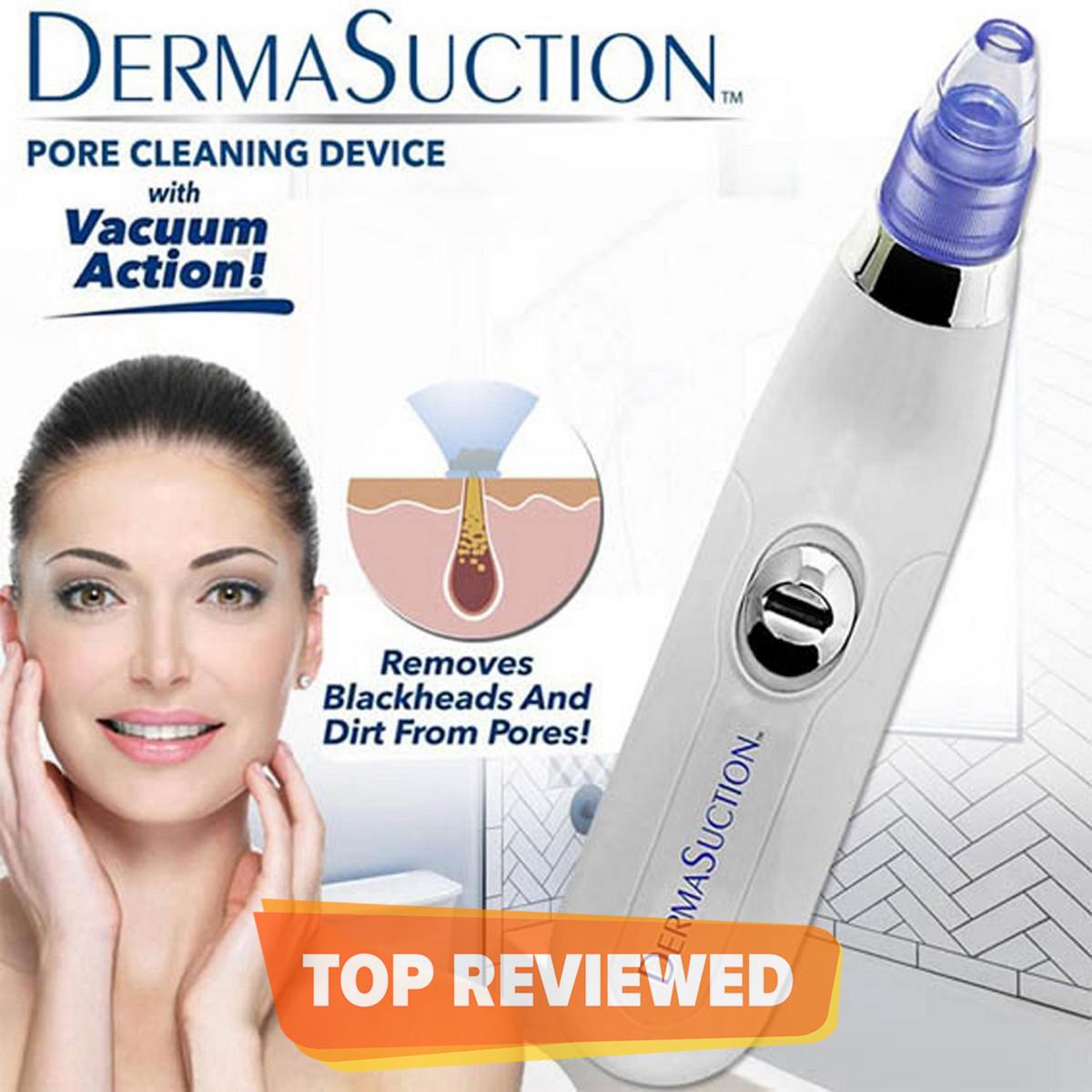 Blackhead Removal Machine Derma Suction 4 in 1 Black Head Remover Machine - Acne Pore Cleaner Vacuum Suction Tool Blackhead Removal On Nose Sucking Machine