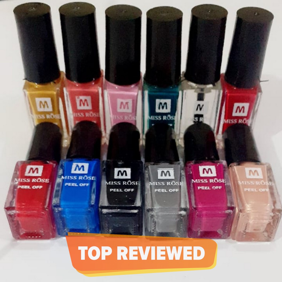 Pack of 12 - MISS ROSE PEELOFF NAIL PAINTS (NEW)