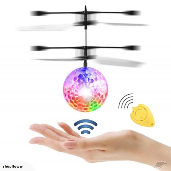 Kids Magic Electric Flying Ball Helicopter Infrared Sensor LED Light Toys