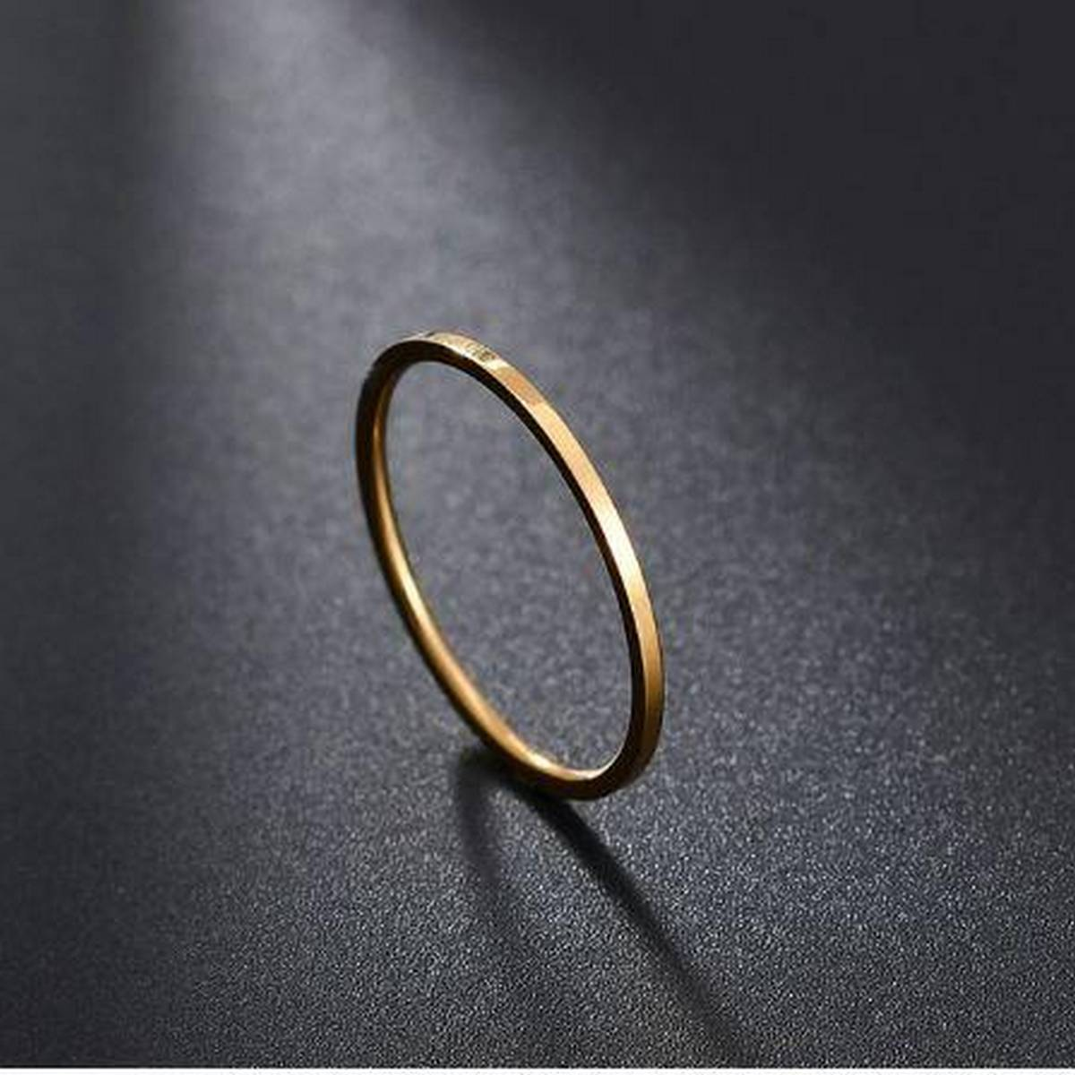 Titanium Steel Smooth Engagement Wedding Couple Rings For Women