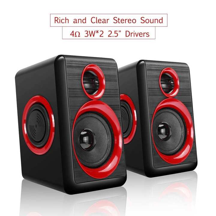 Computer Speakers with Heavy Bass,Subwoofer, Volume Control, 3.5mm Audio