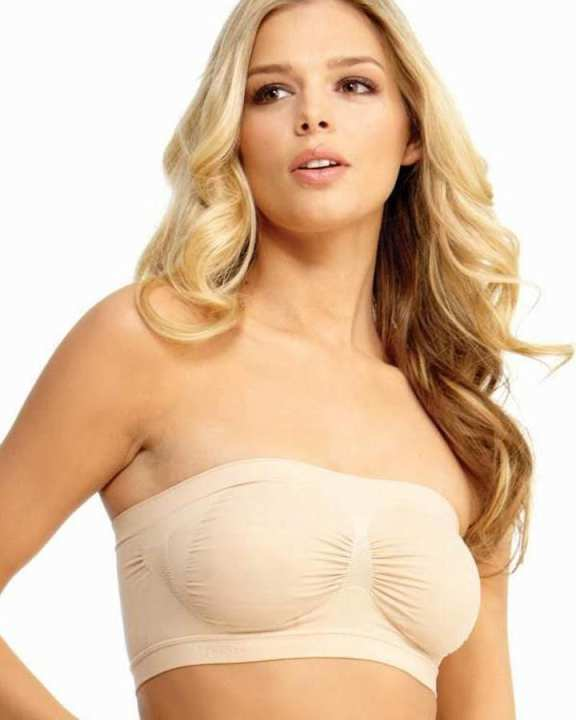 SEXY TUBE PADDED TOP BANDEAU STRETCHABLE STRAPLESS BRA
