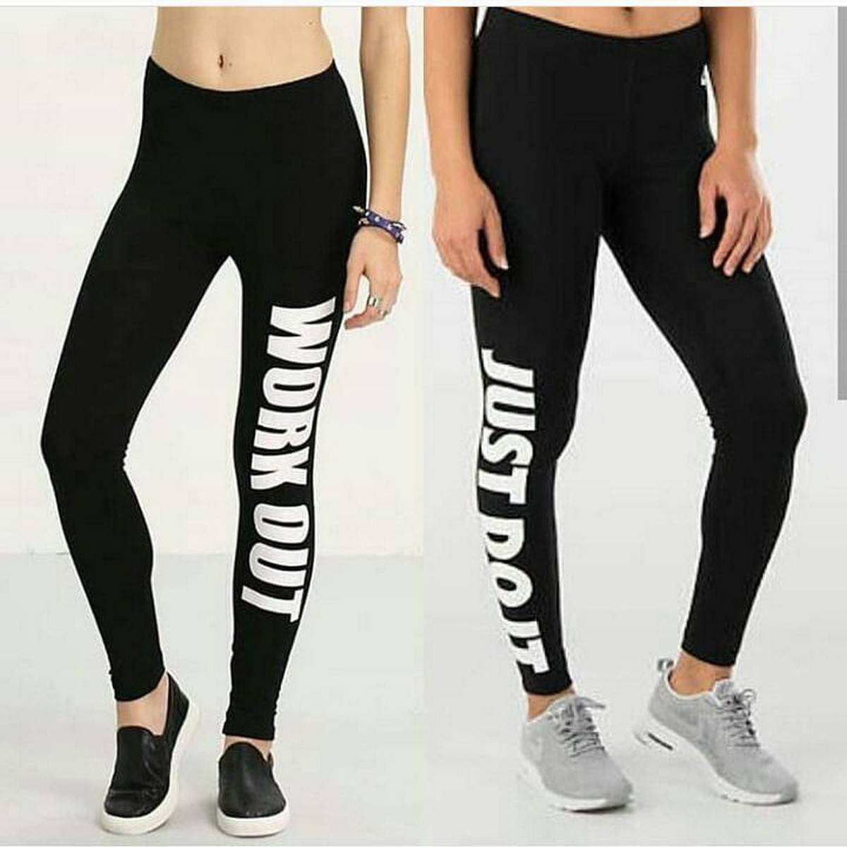 Pack of 2 - YOGA GYM Work Out Jogging Legging Tights for Females