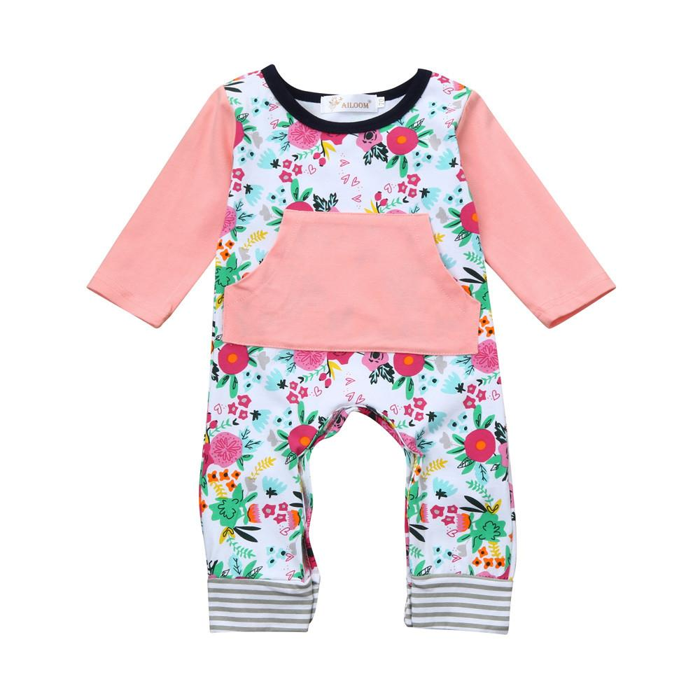 662a3efc024 Rainbowroom Newborn Infant Baby Girl Long Sleeve Floral Print Romper  Jumpsuit Clothes